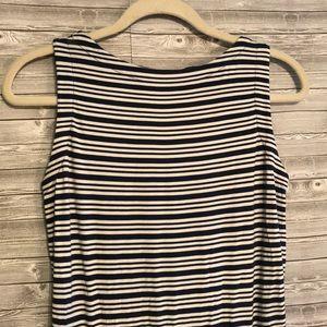 Athleta Dresses - Athleta Blue/White Stripe Ruched Tulip Dress Sz XS